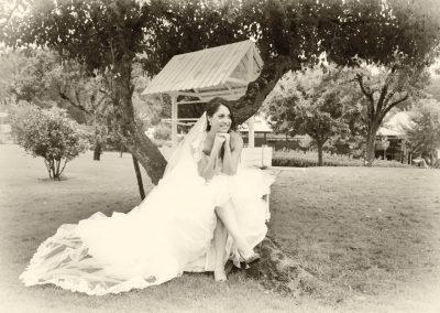 Retrato novia en blanco y negro