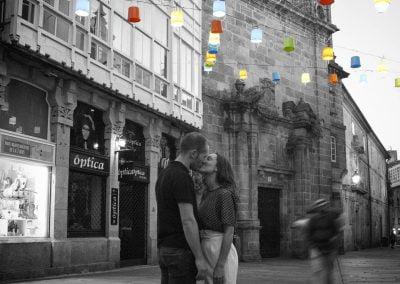 Foto sesión Preboda en Santiago de Compostela