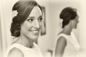 Retrato novia blanco y negro