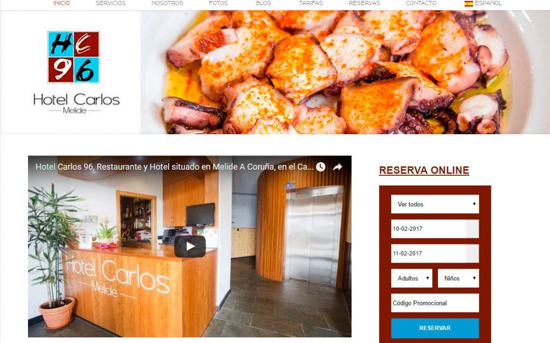 Nueva Web Hotel Carlos 96, situado en Melide A Coruña