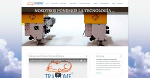 Página web de Traspome, fabrica de colchones