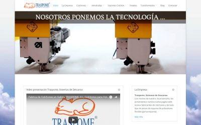 Web Traspome, Fabricante de Colchones en Galicia