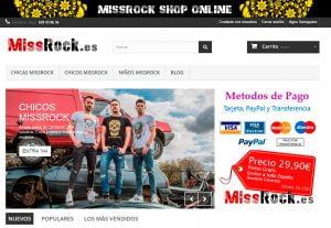 MissRock, venta de camisetas online