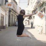 Saltando en Melide