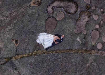 Foto con dron en Postboda