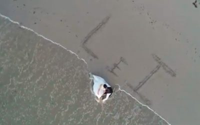 Postboda con Dron en playa de A Coruña 🚁