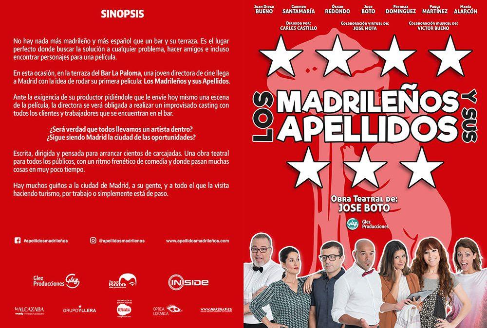 web de la Obra Teatral Los Madrileños y sus Apellidos