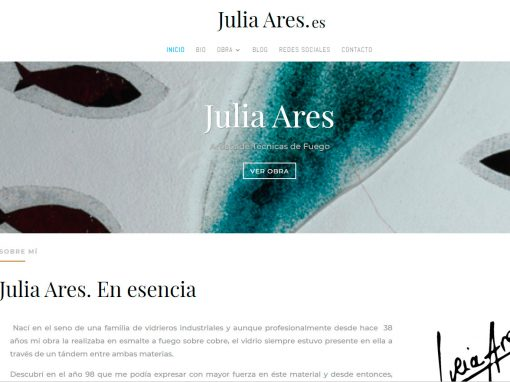 Web Julia Ares