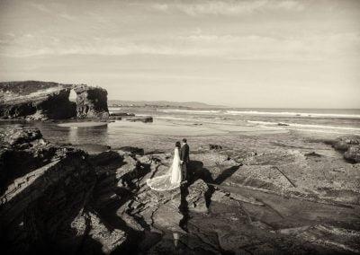 Foto con dron de bodas
