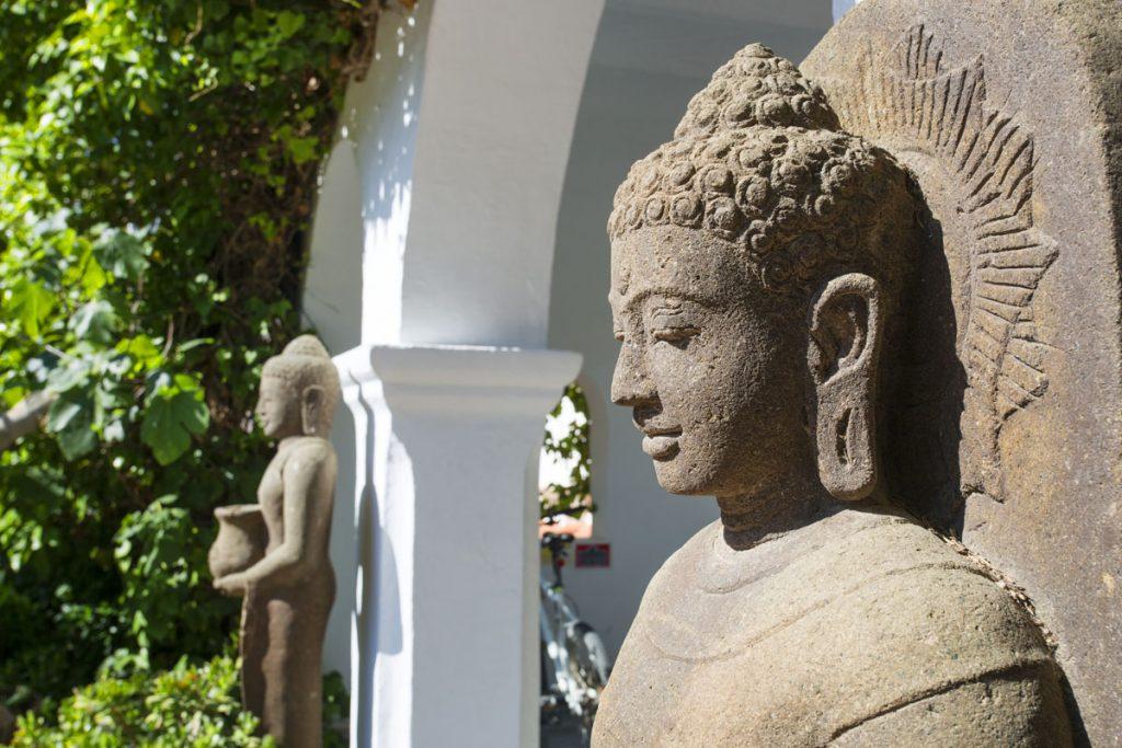 Entrada Budas en Hacienda Na Xamena (Ibiza)