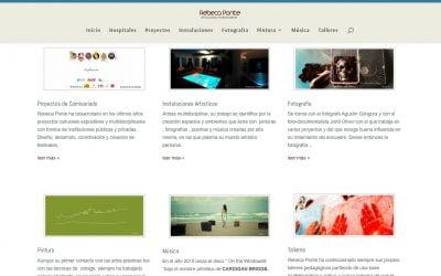 Rebeca Ponte, nueva web