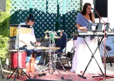 Rebeca Ponte, percusionista Carlos Barral